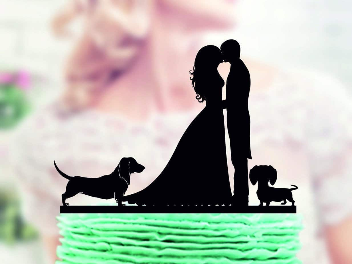 Dachshund Wedding Cake Topper