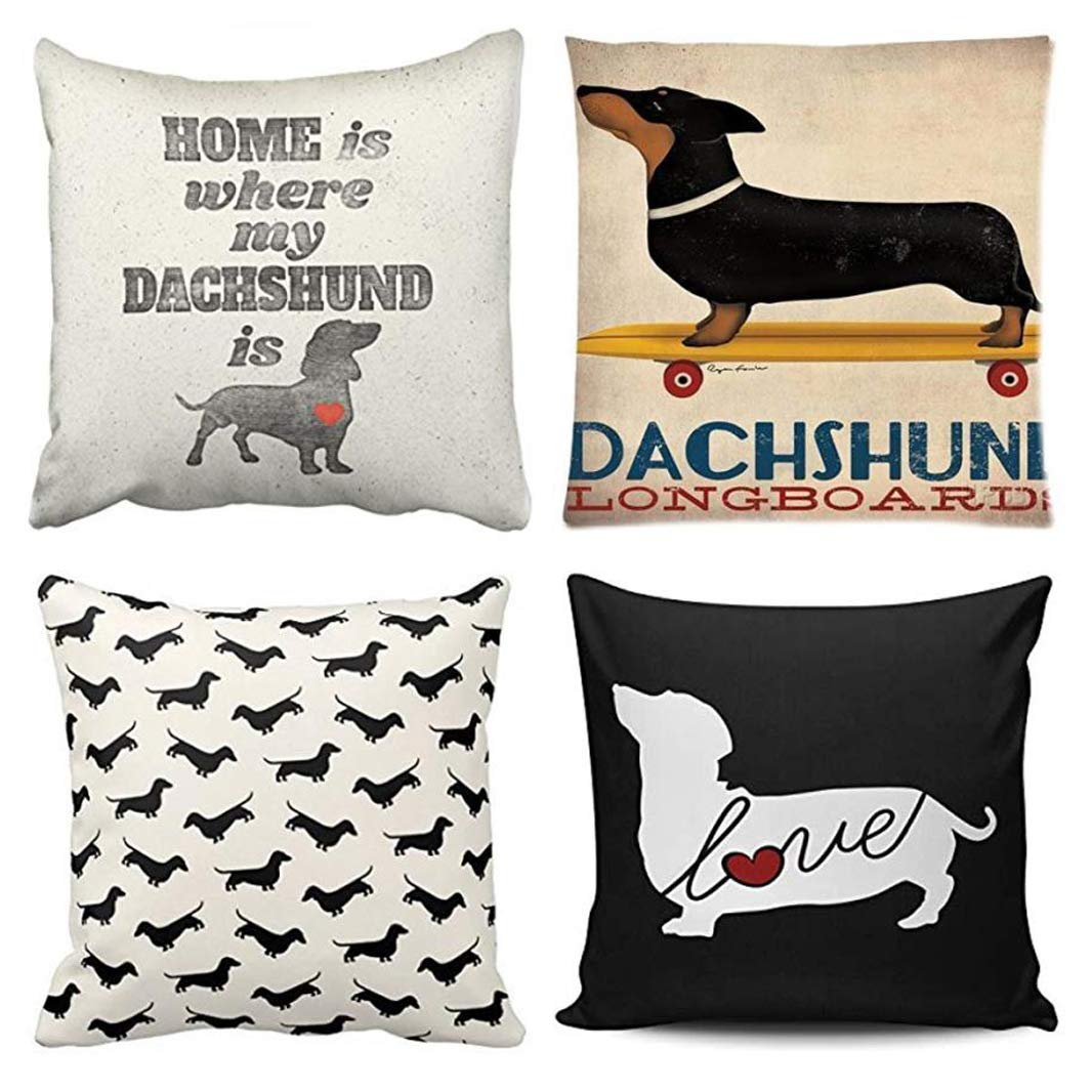 4 Throw Pillow Covers