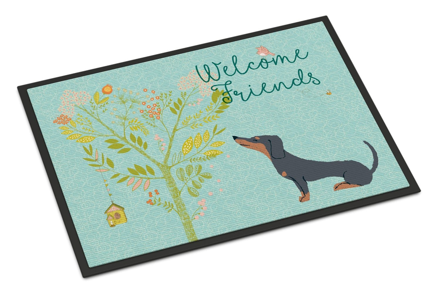 Welcome Friends Dachshund Doormat