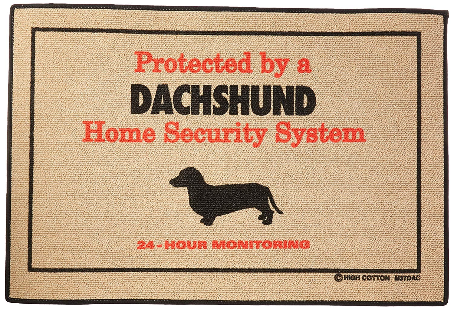 Security Dachshund Doormat