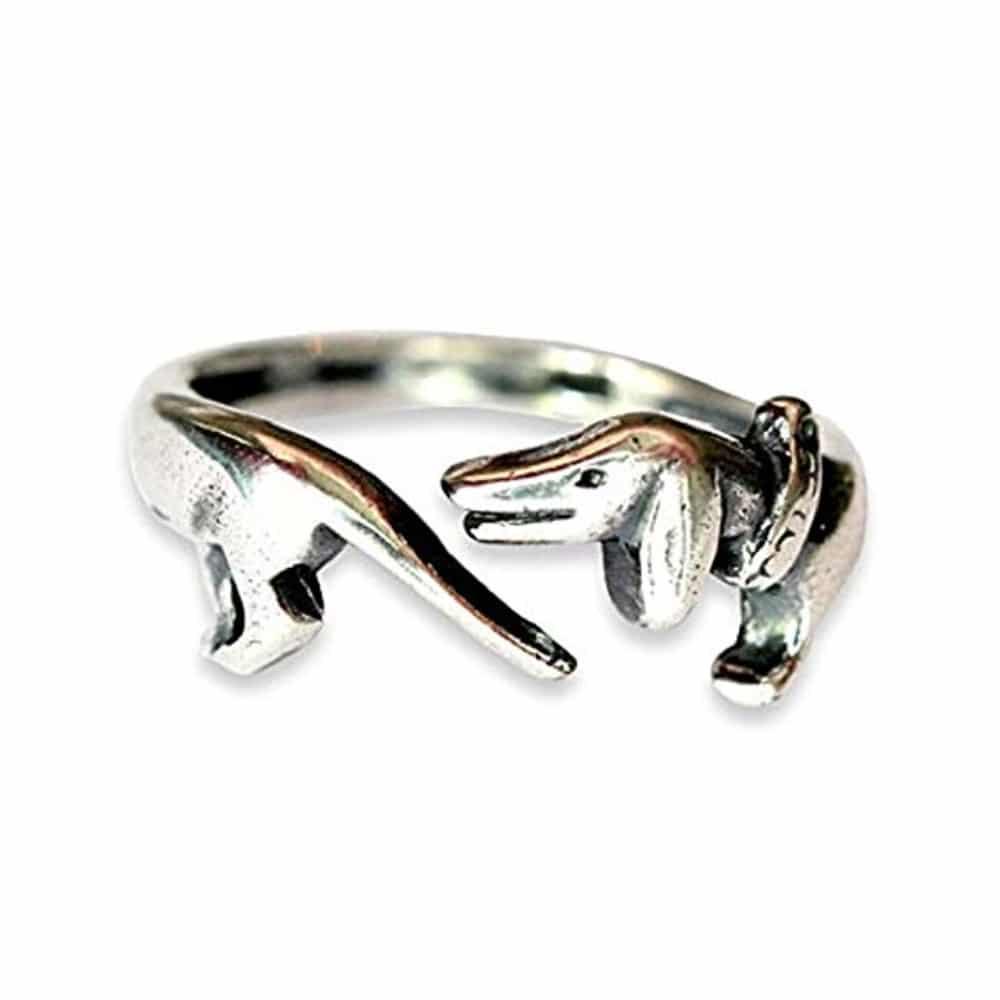 Pewter Dachshund Ring