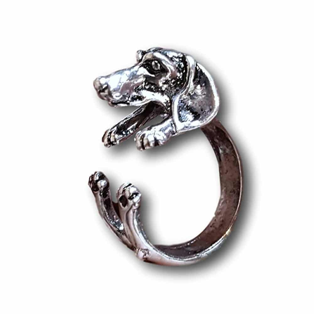 Silver Wrapped Dog Ring