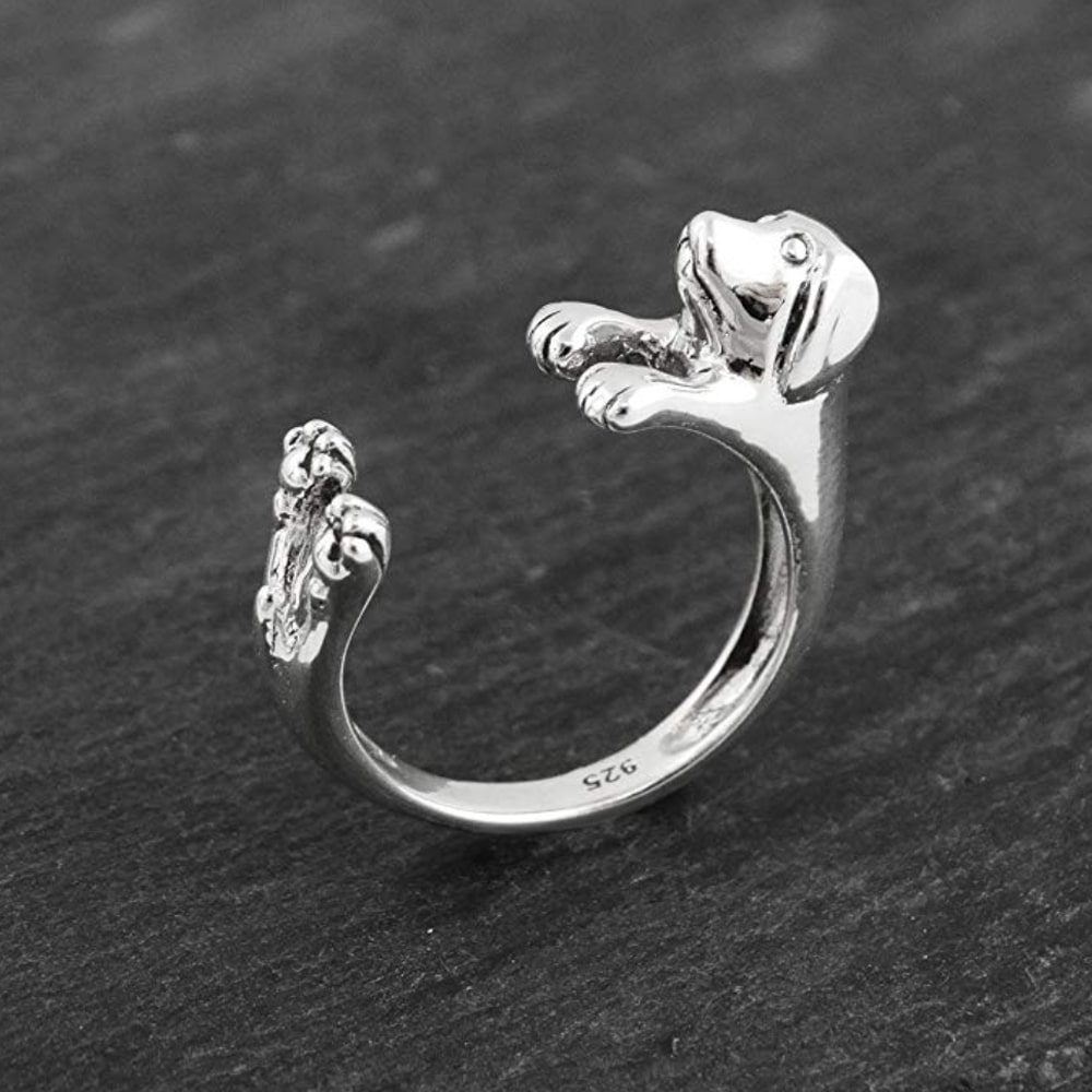 Silver Doxie Ring