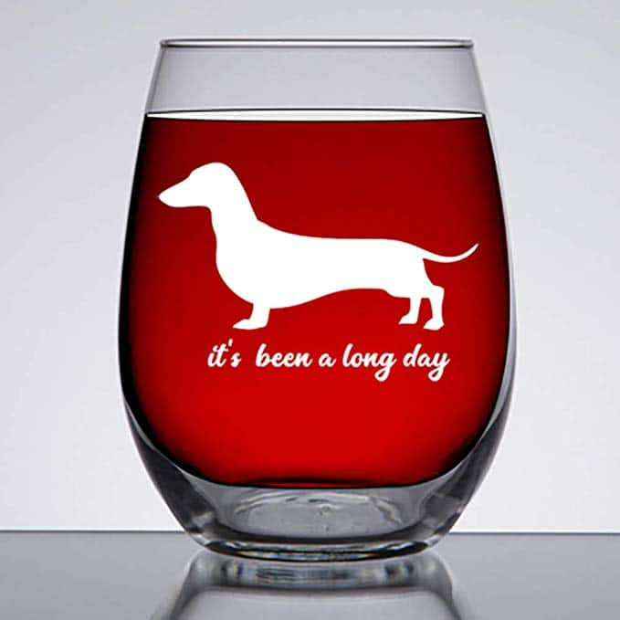 dachshund glass cup
