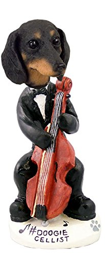 Dachshund Black Cellist